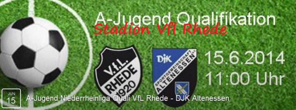 A-Jugend Niederrheinliga Quali VfL Rhede - DJK Altenessen